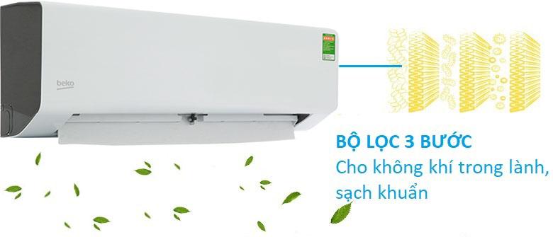 Bộ lọc 3 bước - Máy lạnh Beko 1.5 HP RSSC12CV