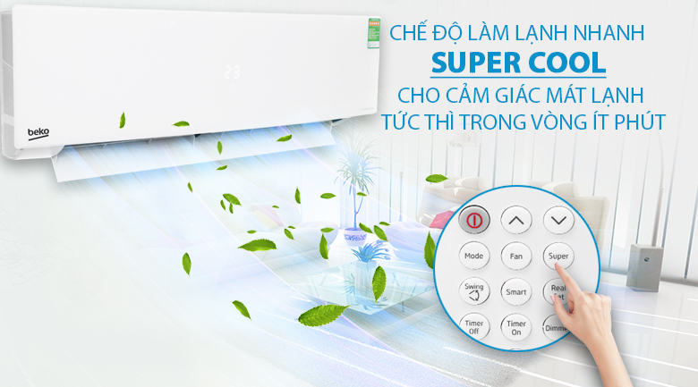 Super Cool - Máy lạnh Beko Inverter 1 HP RSVC10AV