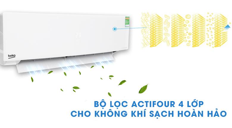 Bộ lọc cao cấp ActiFour - Máy lạnh Beko Inverter 1 HP RSVC10AV