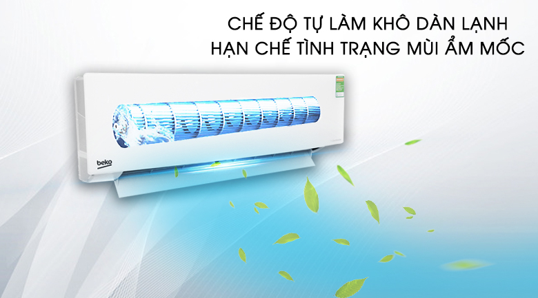 Chế độ tự làm khô dàn lạnh - Máy lạnh Beko Inverter 1 HP RSVC10AV