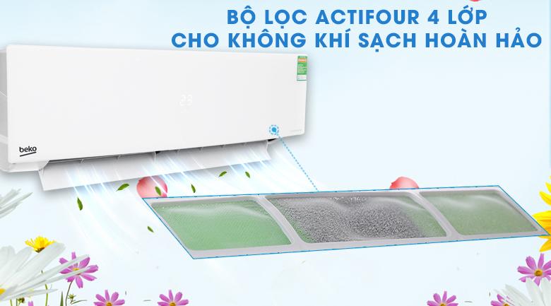 Bảo vệ sức khỏe với ActiFour - Máy lạnh Beko Inverter 1.5 HP RSVC13AV