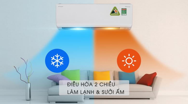 Máy lạnh 2 chiều Daikin Inverter 1.0 HP FTHF25RVMV