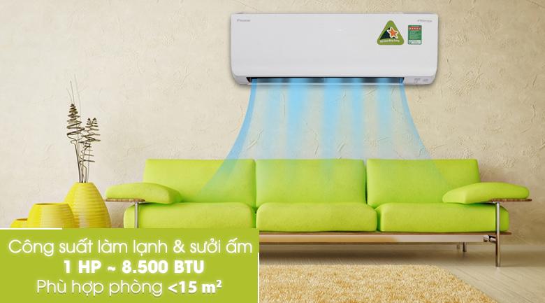 Công suất 1 HP - Máy lạnh 2 chiều Daikin Inverter 1.0 HP FTHF25RVMV