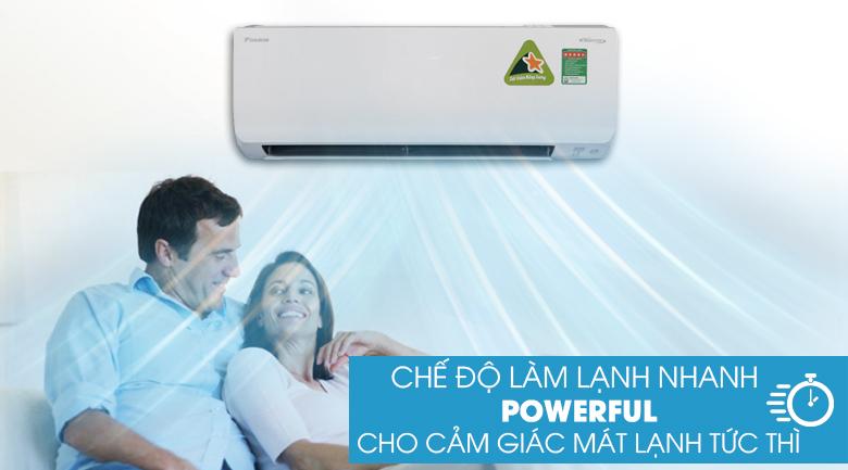 Công nghệ Poweful - Máy lạnh 2 chiều Daikin Inverter 1.0 HP FTHF25RVMV