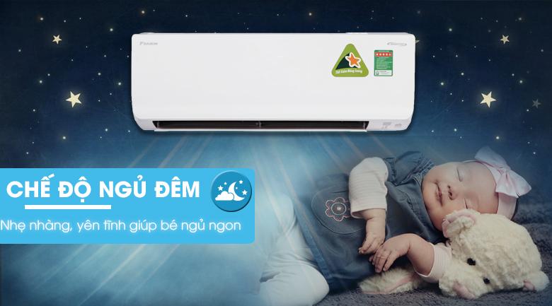 Chế độ ngủ đêm - Máy lạnh 2 chiều Daikin Inverter 1.0 HP FTHF25RVMV