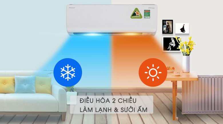 Điều hòa 2 chiều - Máy lạnh 2 chiều Daikin Inverter 1.5 HP FTHF35RVMV