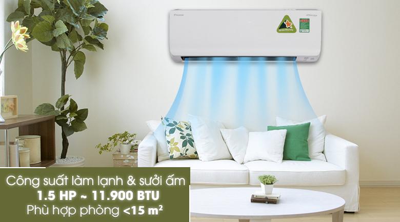 Công suất - Máy lạnh 2 chiều Daikin Inverter 1.5 HP FTHF35RVMV