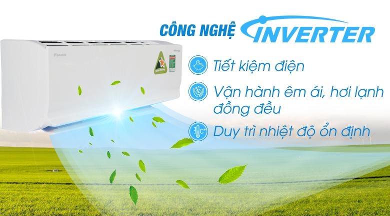 Công nghệ Inverter - Máy lạnh 2 chiều Daikin Inverter 1.5 HP FTHF35RVMV