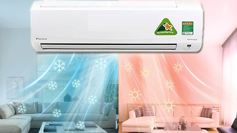 Chế độ sưởi ấm - Máy lạnh 2 chiều Daikin Inverter 2.0 HP FTHF50RVMV