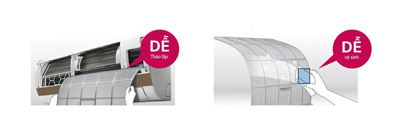 Tấm lọc kháng khuẩn - Máy lạnh 2 chiều Daikin Inverter 2.0 HP FTHF50RVMV