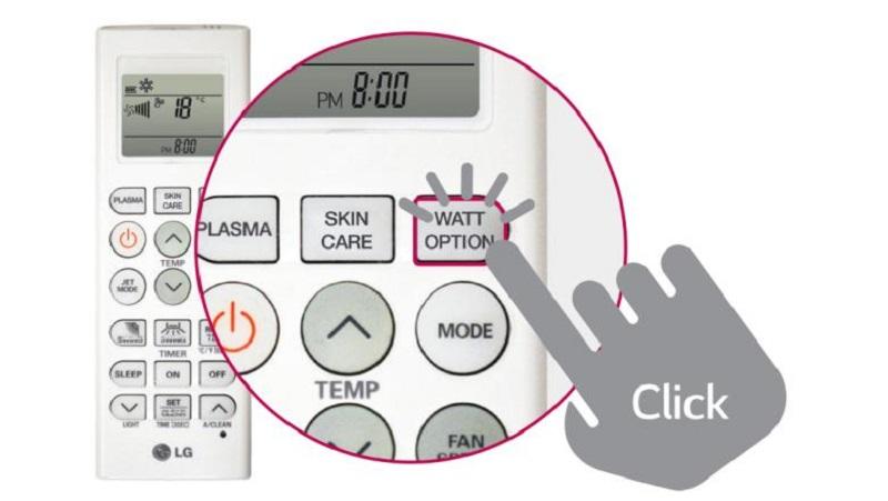 Độc đáo với khả năng tùy chỉnh mức tiêu thụ điện năng Watt Option