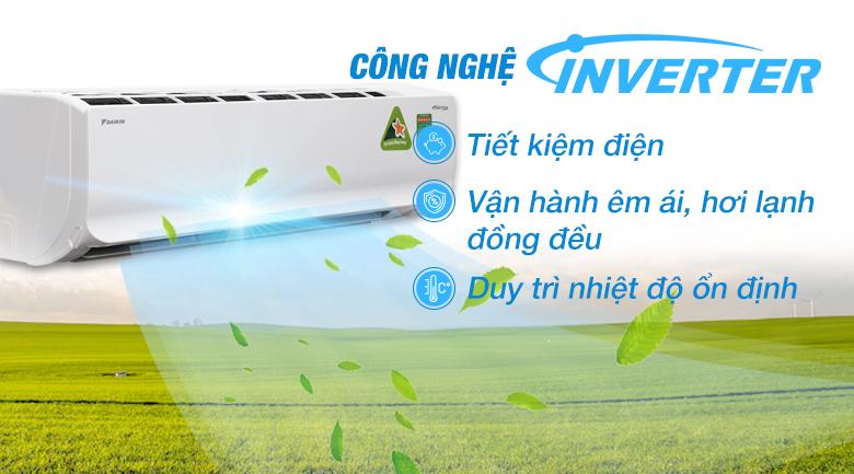 Công nghệ Inverter - Máy lạnh Daikin Inverter 2 HP FTKC50TVMV