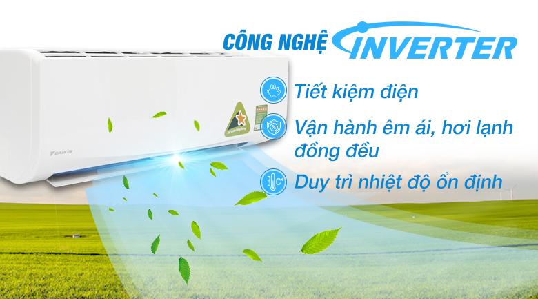 Máy lạnh Inverter - Máy lạnh Daikin Inverter 1 HP FTKQ25SAVMV