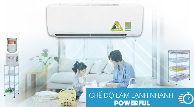 Làm lạnh nhanh - Máy lạnh Daikin Inverter 1 HP FTKQ25SAVMV