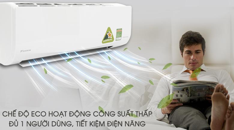 Chế độ Eco - Máy lạnh Daikin Inverter 1 HP FTKQ25SAVMV
