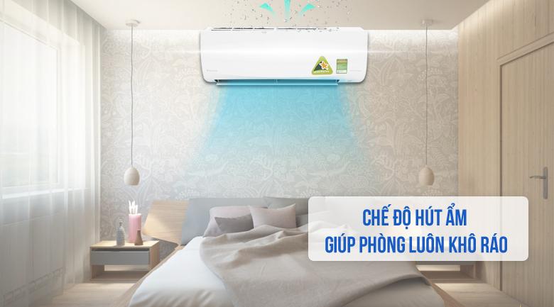 Chế độ hút ẩm - Máy lạnh Daikin Inverter 1 HP FTKQ25SAVMV