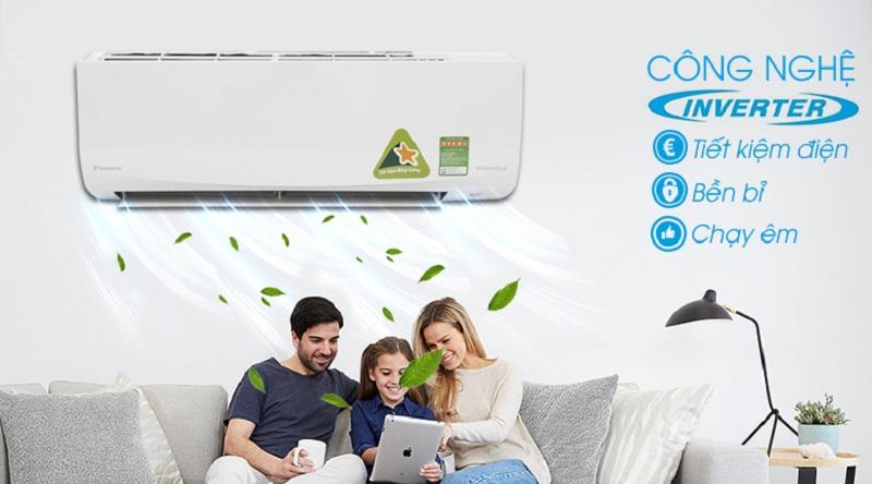 Máy lạnh Inverter vận hành êm ái, bền bỉ