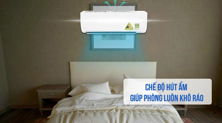 Tính năng hút ẩm - Máy lạnh Daikin Inverter 1.5 HP FTKQ35SAVMV
