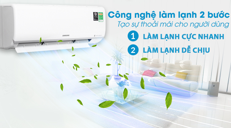 Chế độ làm mát 2 bước Fast Cool & Comfort Cool - Máy lạnh Samsung Inverter 1 HP AR10NVFTAGMNSV