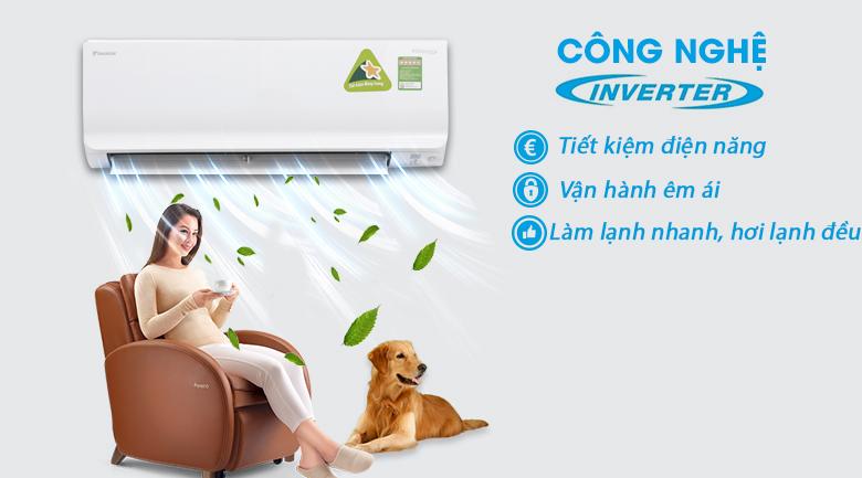 Công nghệ Inverter - Máy lạnh Daikin Inverter 1 HP FTKM25SVMV