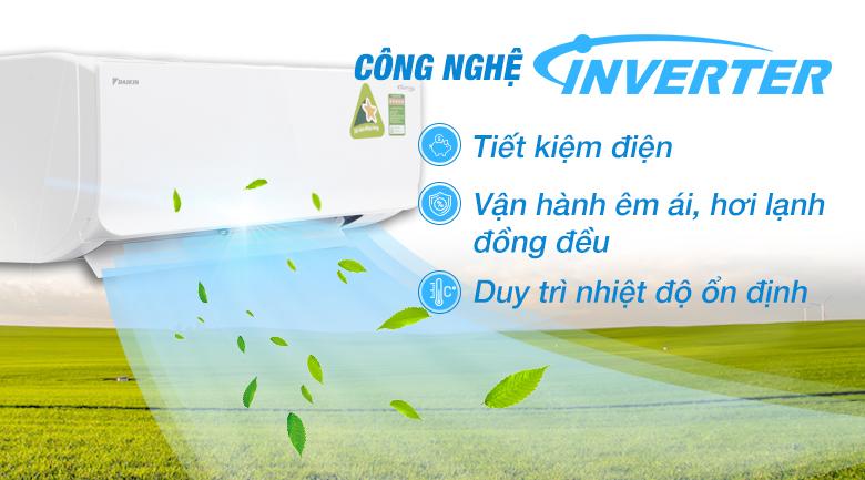 Công nghệ Inverter - Máy lạnh Daikin Inverter 1.5 HP FTKM35SVMV