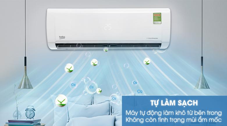 Tự làm sạch - Máy lạnh Beko Inverter 1.5 HP RSVC12VY