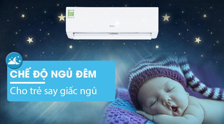 Chế độ ngủ đêm - Máy lạnh Gree 1.5 HP GWC12IC-K3NNB2H
