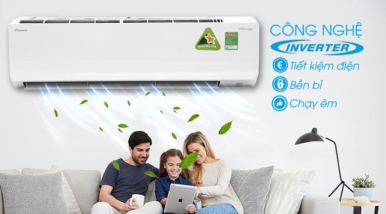 Công nghệ Inverter - Máy lạnh Daikin Inverter 2.5 HP FTKC60TVMV