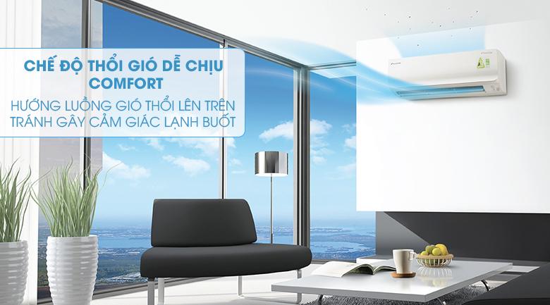 Chế độ thổi gió Comfort - Máy lạnh Daikin Inverter 2.5 HP FTKC60TVMV