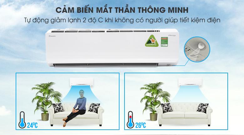 Mắt thần thông minh Intelligent Eye - Máy lạnh Daikin Inverter 2.5 HP FTKC60TVMV