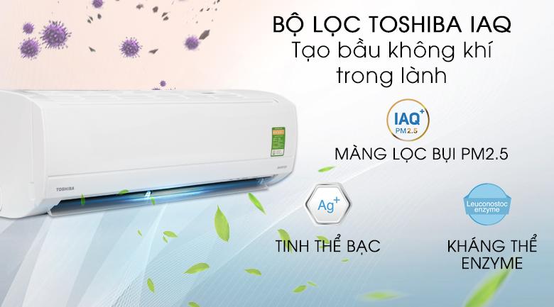 Bộ lọc Toshiba IAQ - Máy lạnh Toshiba Inverter 1 HP RAS-H10KKCVG-V