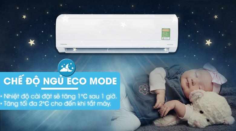 Chế độ Eco Mode - Máy lạnh Toshiba Inverter 1 HP RAS-H10KKCVG-V