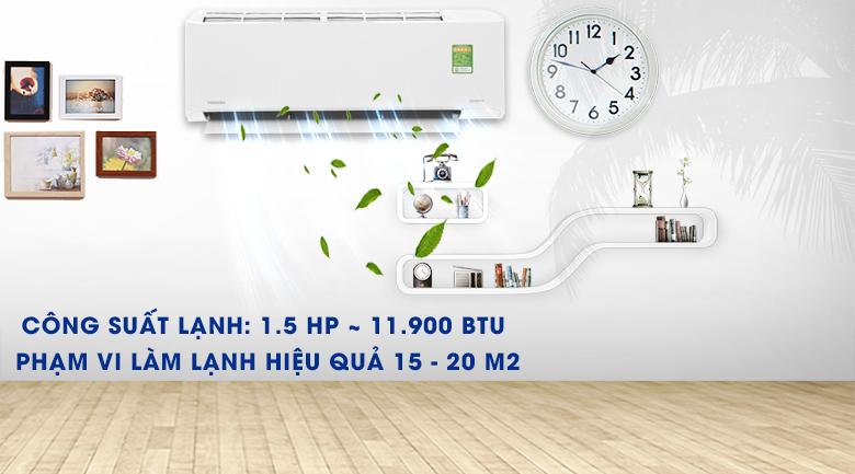 Máy lạnh Toshiba Inverter 1.5 HP RAS-H13FKCVG-V