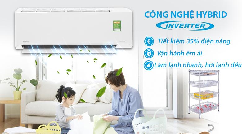 Công nghệ Inverter - Máy lạnh Toshiba Inverter 1.5 HP RAS-H13FKCVG-V