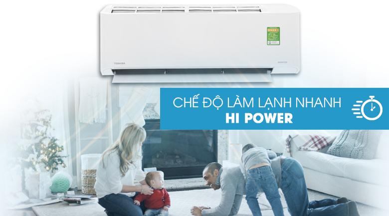Làm lạnh nhanh HI Power - Máy lạnh Toshiba Inverter 1.5 HP RAS-H13FKCVG-V