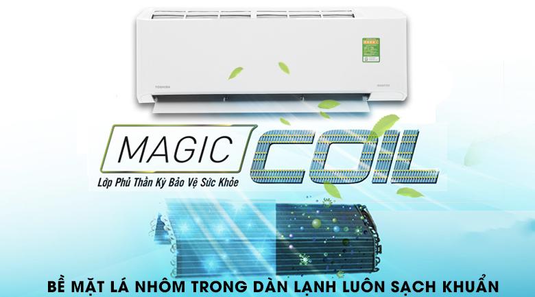 Công nghệ chống bám bẩn Magic Coil - Máy lạnh Toshiba Inverter 1.5 HP RAS-H13FKCVG-V