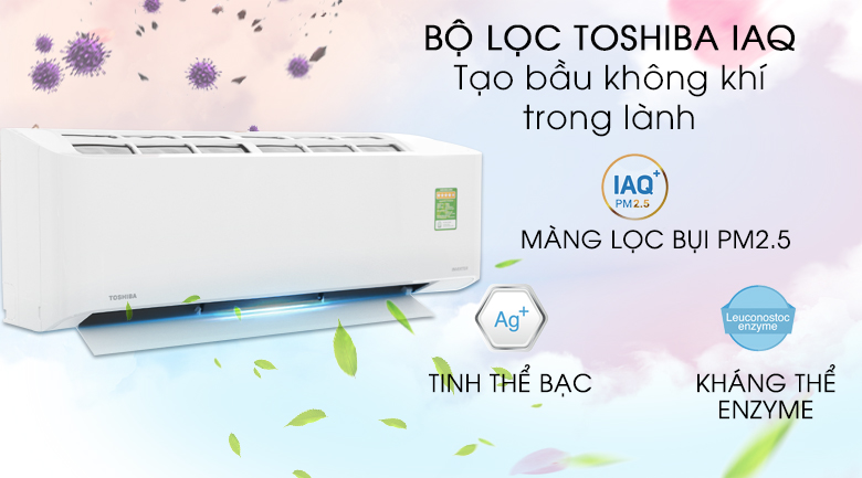 Bộ lọc Toshiba IAQ - Máy lạnh Toshiba Inverter 1.5 HP RAS-H13FKCVG-V