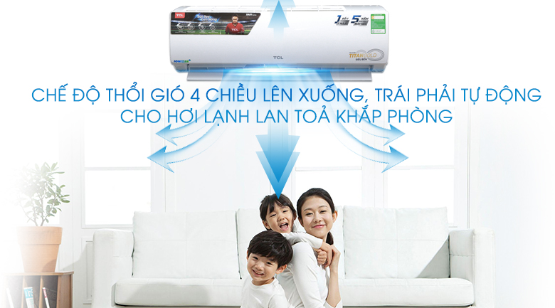 Công nghệ đảo gió 3D - Máy lạnh TCL 1HP TAC-N09CS/XA21