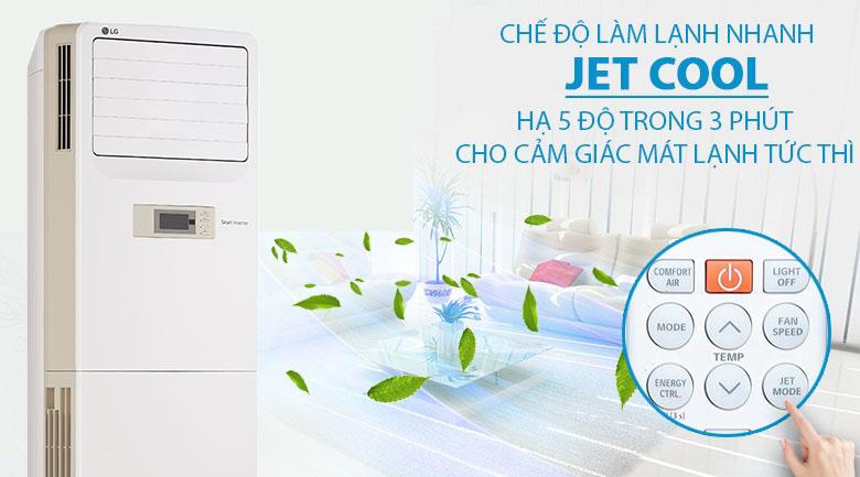 Chế độ Jet Cool - Chế độ gió 3D - Máy lạnh Tủ đứng LG Inverter 2.5 HP APNQ24GS1A3