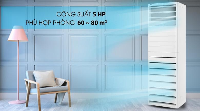 Công suất 5 HP - Máy lạnh tủ đứng LG Inverter 5 HP APNQ48GT3E3