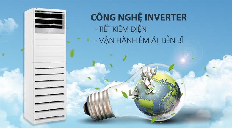 Công nghệ Inverter - Máy lạnh tủ đứng LG Inverter 5 HP APNQ48GT3E3