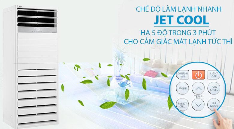 Chế độ Jet Cool - Máy lạnh tủ đứng LG Inverter 5 HP APNQ48GT3E3
