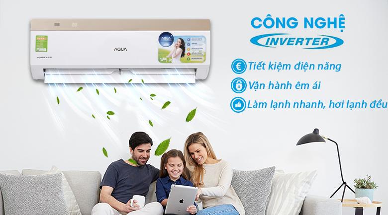 Công nghệ Inverter - Máy lạnh Aqua Inverter 1 HP AQA-KCRV9VKS