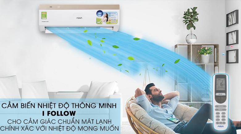 Cảm biến I-Feel - Máy lạnh Aqua Inverter 1 HP AQA-KCRV9VKS