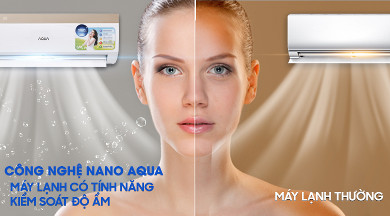 Công nghệ Nano Aqua - Máy lạnh Aqua Inverter 1 HP AQA-KCRV9VKS