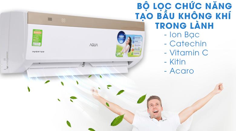 Bộ lọc chức năng - Máy lạnh Aqua Inverter 1 HP AQA-KCRV9VKS