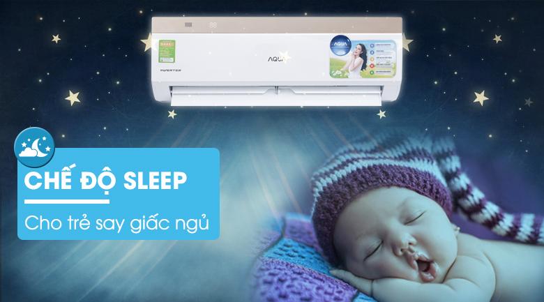 Chế độ ngủ đêm - Máy lạnh Aqua Inverter 1 HP AQA-KCRV9VKS