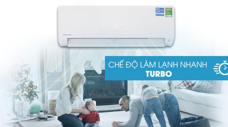 Làm lạnh nhanh Turbo - Máy lạnh Aqua Inverter 1 HP AQA-KCRV9F
