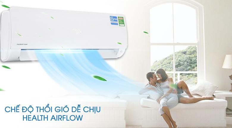 Chế độ thổi gió dễ chịu - Máy lạnh Aqua Inverter 1 HP AQA-KCRV9F