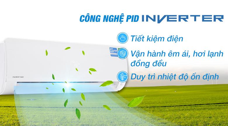Công nghệ Inverter - Máy lạnh Aqua Inverter 1.5 HP AQA-KCRV12F